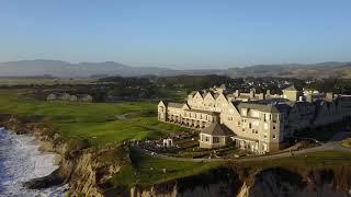 Drone Shot at Ritz-Carlton in Half Moon Bay, California
