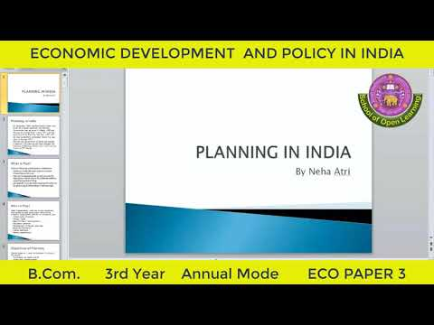 ECO PAPER 3 (ECONOMIC DEVELOPMENT AND POLICY IN INDIA - PLANNING AND NEP By - NEHA ATRI