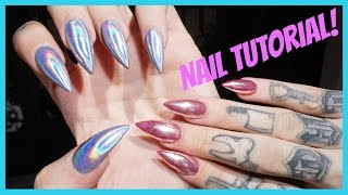 CHROME & HOLOGRAPHIC NAILS: Step by Step Tutorial | Jeffree Star