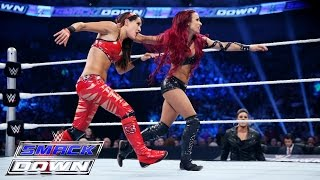 Nikki Bella & Brie Bella  vs. Naomi & Sasha Banks: SmackDown, July 23, 2015