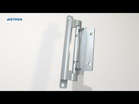 Innenliegendes Scharnier, aushängbar, Stahl/Edelstahl (F6)