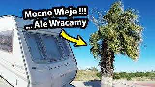 WRACAMY do Polski !!! - Silne Wiatry vs. Przyczepa Kempingowa (Vlog #251)