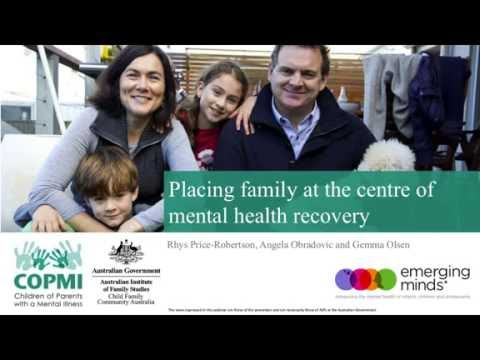 Webinar: Placing Family At The Centre Of Mental Health Recovery Mp3