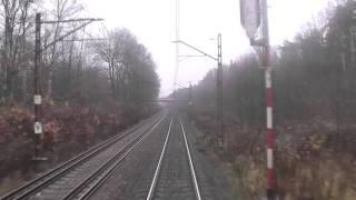preview picture of video 'Odcinek Gliwice - Kędzierzyn-Koźle z tyłu pociągu TLK Zefir - Linia kolejowa E30/D29-137'