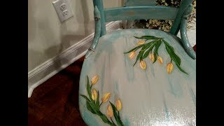 Distressed And Decoupaged Chair