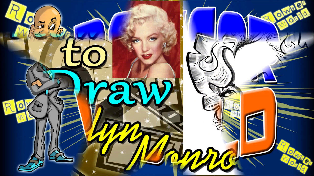 caricature of marilyn monroe step by step by rowser world
