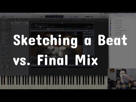 Sketching a Beat vs  Final Mix - LOTD #22