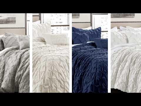Ravello Pintuck 5 Piece Comforter Set