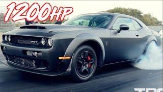 Carbon Fiber Twin Turbo Dodge Demon -  1200HP on Stock Engine!