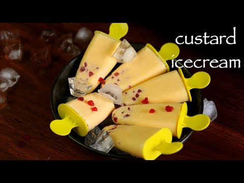 Video custard ice cream recipe | custard popsicles recipe | custard candy