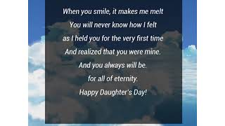 Daughters Day Poems - Love You My Daughter - DaughtersDayWishes.com