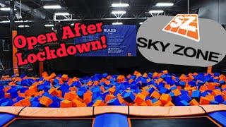 Sky Zone Is Open after Lockdown! Trampoline Park Walk Thru Ninja Warrior Course Tour