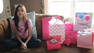 Sadies 13th Birthday Opening Presents