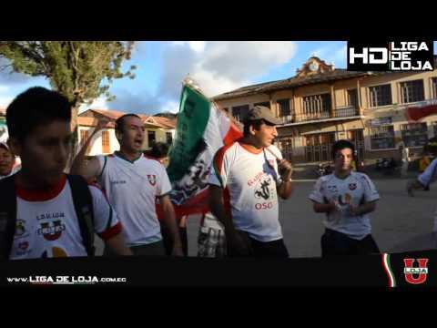 """""""Garra del oso en San Sebastian"""" Barra: La Garra del Oso • Club: Liga de Loja"""