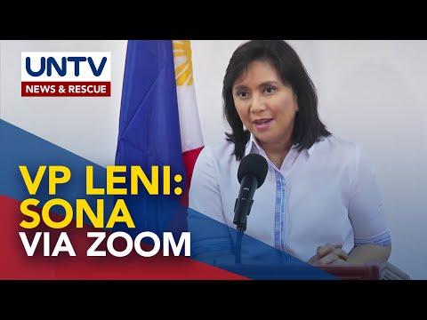 [UNTV]  VP Leni Robredo, makiking ng SONA via Zoom