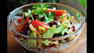 """САЛАТ """"ИСПАНСКИЙ"""" за 5 минут! САМЫЙ вкусный овощной салат!"""
