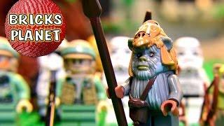 preview picture of video 'All 17 Minifigs from Ewok Village 10236 LEGO Star Wars - HD Stop Motion review'