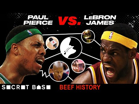 Paul Pierce and LeBron James' beef started with spitting and escalated to family drama