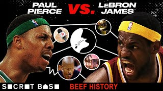 Paul Pierce and LeBron James' beef started with spitting and escalated to family drama thumbnail