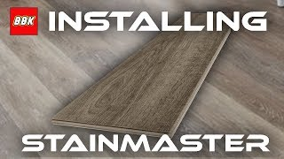 Installing STAINMASTER Washed Oak Locking Luxury Floor and Review - Bathroom Floor