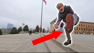 HEELYS VS STAIRS! *DO NOT ATTEMPT*