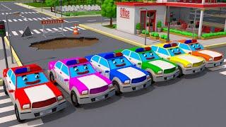 Мультики про Машинки - Полицейские Машины Супер ГОНКИ в Городе - Новый Сборник Мультфильмы 2018