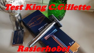 Test King C Gillette Rasierhobel