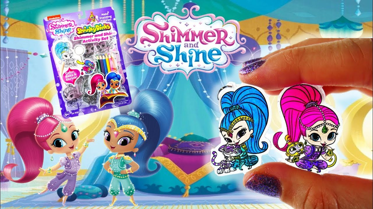 Shimmer and Shine Charm Shrinky Dinks DIY Activity Set with Mod Podge Dimensional Magic