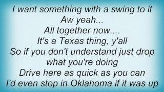 Aaron Watson - Something With A Swing To It Lyrics