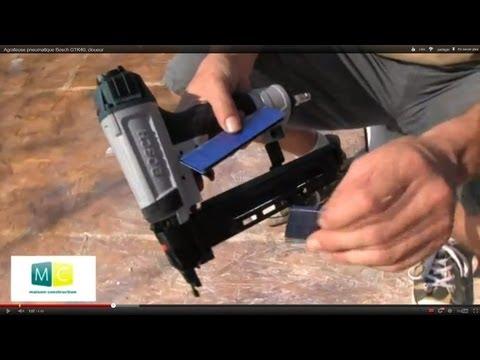 Agrafeuse pneumatique Bosch GTK40, cloueur, pneumatic stapler