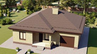 Проект дома 133-B, Площадь дома: 133 м2, Размер дома:  14x13,8 м