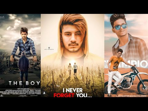 Picsart Movie poster editing Latest, Never forget you photo editing