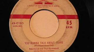ROBERTA LEE & THURL RAVENSCROFT YOU WANNA TALK ABOUT TEXAS X RECORDS