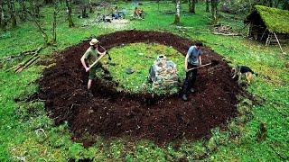 BIG & ROUND! ~ Iron Age Inspired Bushcraft Build (Ep.1)