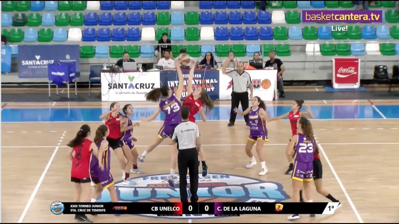 U18F - CB UNELCO vs CB CLARINOS LA LAGUNA - XXIII Torneo Internacional Junior Sta. Cruz de Tenerife
