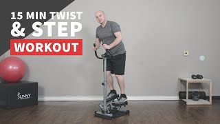 15 Minute Twist and Step Workout with Step Machine