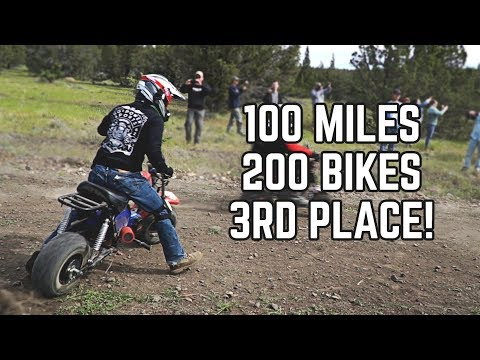 100 Mile Mini Bike Race! 200+ Mini Bikes — WE GOT 3RD!
