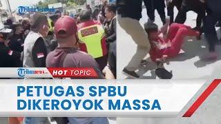 Viral Video Petugas SPBU di Bandung Dikeroyok Massa seusai Cekcok dengan Pedagang, Disebut Arogan