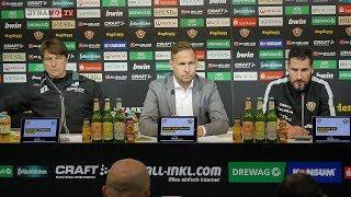 26. Spieltag | SGD - FCM | Pressekonferenz nach dem Spiel