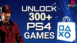 HOW TO UNLOCK OVER 300 GAMES ON PS4 FOR FREE WITH THIS METHOD