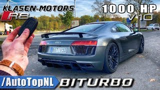 1000HP AUDI R8 V10 PLUS BiTurbo KLASEN Motors 347km/h REVIEW POV on Autobahn by AutoTopNL