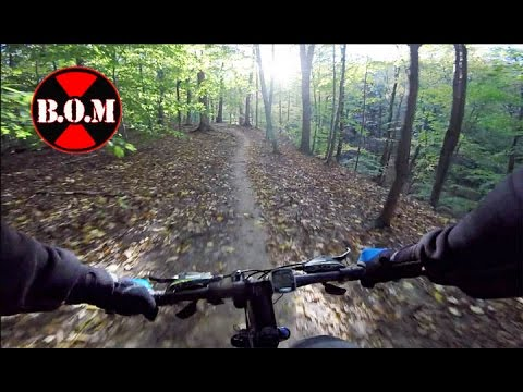 Folding Bike on Trail in Ohio Woods – Montague Paratrooper Review