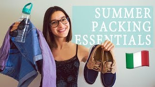 Italy Summer Packing Essentials!