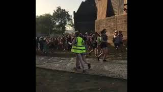 Rave crew assemble for the opening of The Common's Temple (Glastonbury 2019)