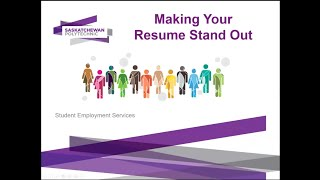 Making your Resume Stand Out