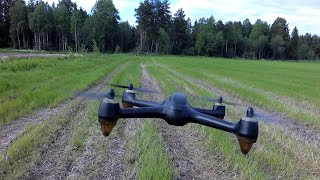 (7) Hubsan H501S Что будет если сядет батарея на пульте во время полёта?