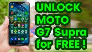 🔓 🇺🇸 Unlock Motorola MOTO G7 Supra, XT1955-5