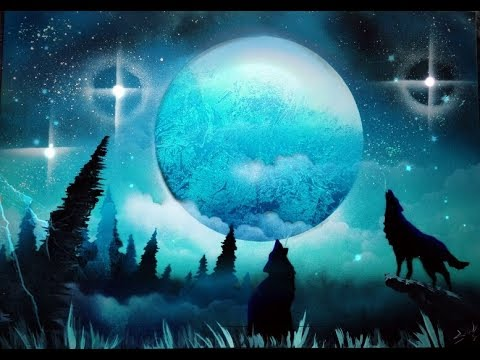 Beautiful Moonlit Night Scenery Drawing Using Oil Pastels Step By