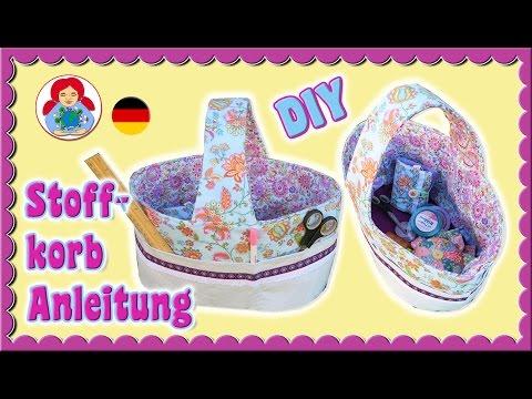 DIY | Stoffkorb (Nähkorb) Anleitung + GRATIS FREEBOOK!!! • Sami Doll Tutorials