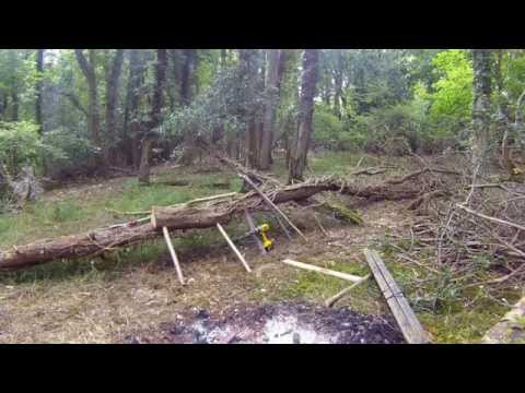 Bush craft Furniture making. Chair Table (Fat Guys in the Woods)